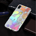 cheap iPhone Cases-Case For Apple iPhone X / iPhone 8 Plating / Pattern Back Cover Butterfly Soft TPU for iPhone X / iPhone 8 Plus / iPhone 8