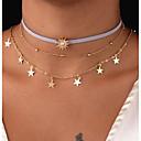 저렴한 목걸이-여성용 레이어드 두꺼운 사슬 초커 목걸이 / 체인 목걸이 - 썬크림, 별 숙녀, 빈티지, 멀티 레이어 골드 47 cm 목걸이 보석류 제품 선물, 일상