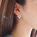 preiswerte Ohrringe-Damen Geometrisch Ohrstecker - Blumen / Botanik, Blattform, Blume Süß Gold / Silber Für Alltag / Strasse