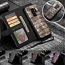 halpa Galaxy S -sarjan kotelot / kuoret-Etui Käyttötarkoitus Samsung Galaxy S9 Plus / S9 Lomapkko / Korttikotelo / Tuella Suojakuori Yhtenäinen Kova aitoa nahkaa varten S9 / S9 Plus