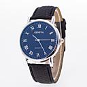 رخيصةأون ساعات الرجال-رجالي نسائي ساعة المعصم كوارتز جلد اصطناعي أسود ساعة كاجوال مماثل موضة - أبيض أزرق