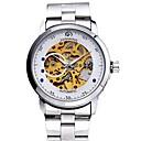 ieftine LED-uri-Bărbați Ceas Elegant Ceas Schelet Japoneză Mecanism automat Oțel inoxidabil Argint 30 m Cronograf Analog Clasic Creative Modă - Auriu