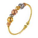 preiswerte Ohrringe-Damen Manschetten-Armbänder - vergoldet Ethnisch Armbänder Gold Für Party Geschenk