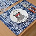 hesapli Servis Altlıkları-Çağdaş PVC Dörtgen Servis Altlığı Nakışlı Masa Süslemeleri 1 pcs