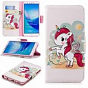 cheap Phone Mounts & Holders-Case For Huawei Huawei Y9 (2018)(Enjoy 8 Plus) / Enjoy 7S Wallet / Card Holder / with Stand Full Body Cases Unicorn Hard PU Leather for Huawei Y7(Nova Lite+) / Huawei Y6 (2018) / Huawei Y6