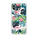 رخيصةأون أغطية أيفون-غطاء من أجل Apple iPhone X / iPhone 8 Plus / iPhone 8 نموذج غطاء خلفي النباتات / البشروس طائر مائي / كارتون ناعم TPU