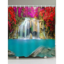 cheap Bathroom Gadgets-Shower Curtains & Hooks Country Polyester 3D Machine Made Waterproof Bathroom