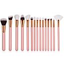 preiswerte Make-up & Nagelpflege-15pcs Makeup Bürsten Professional Bürsten-Satz- Nylonfaser Umweltfreundlich / Weich Holz / Bambus