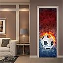 hesapli Makyaj ve Tırnak Bakımı-Dekoratif Duvar Çıkartmaları / Kapak Etiketleri - Tatil Duvar Sticker Futbol / 3D Oturma Odası / Yatakodası