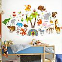 billige Dekorationsklistermærker-Dekorative Mur Klistermærker - Animal Wall Stickers Dyr Stue / Soveværelse / Badeværelse