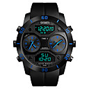 cheap Men's Watches-SKMEI Men's Sport Watch Military Watch Japanese Digital 50 m Water Resistant / Water Proof Alarm Chronograph PU Band Analog-Digital Casual Fashion Black - Black Red Blue One Year Battery Life