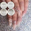 preiswerte Make-up & Nagelpflege-4 pcs Glitzer leuchtend Nagel Kunst Maniküre Pediküre Hochzeit / Party / Alltagskleidung Metallisch