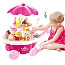 cheap Pretend Play-Toy Kitchen Set Pretend Play Ice Cream Sweet Candy Shop Plastic Shell Preschool Toy Gift 39 pcs