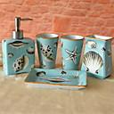 billige Badeværelsesartikler-Tilbehørssæt til badeværelset Nyt Design / Sødt Moderne Keramik 5pcs - Badeværelse Enkel