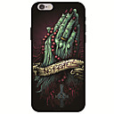 baratos Capinhas para iPhone-Capinha Para Apple iPhone X / iPhone 8 Estampada Capa traseira Caveiras Macia TPU para iPhone X / iPhone 8 Plus / iPhone 8