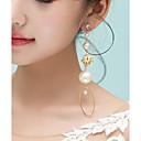 povoljno Kompasi-Žene Sintetički dijamant Floating Klipse Naušnice dame Tropical Elegantno Jewelry Zlatan Za Party Zabava / večer 1 par