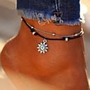 abordables Bijoux Corps-Femme Multirang Bracelet de cheville Cuir Soleil dames Elégant Classique Bracelet de cheville Bijoux Argent Pour Quotidien Bikini
