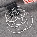 hesapli Küpeler-Kadın's Kalın Zincir top Küpe - Top Sanatsal, Basit, Moda Gri / Altın Uyumluluk Günlük Resmi / 3 Çiftler