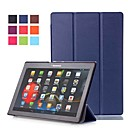 abordables Etuis / Coques pour Lenovo-Coque Pour Lenovo Lenovo Tab-X103F Avec Support / Magnétique Coque Intégrale Couleur Pleine Dur faux cuir pour Lenovo Tab-X103F