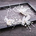זול תכשיטים לשיער-כל העונות לבן רצועות ראש יהלום סינתטי-פרחוני בד סגסוגת