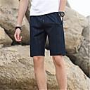 رخيصةأون شورتات-رجالي أساسي مناسب للبس اليومي شورتات بنطلون - لون سادة أزرق أسود XXL XXXL XXXXL