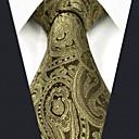 رخيصةأون ربطات عنق-ربطة العنق لون سادة / زخرفات / خملة الجاكوارد رجالي عمل / أساسي