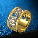 זול שעוני נשים-בגדי ריקוד נשים מסוגנן טבעת הטבעת טבעת ציפוי זהב 18 קאראט יהלום מדומה פיל נשים וינטאג' הַגזָמָה היפ-הופ Fashion Ring תכשיטים זהב עבור לילה בחוץ ואירוע מיוחד בר 5 / 6 / 7 / 8 / 9