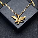 ieftine Coliere-Bărbați Coliere cu Pandativ Lănțișoare Stl Link cubanez Vultur Stilat European Hip-Hop inox Auriu 60 cm Coliere Bijuterii 1 buc Pentru Cadou Stradă