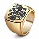 cheap Bathroom Gadgets-Men's Stylish Engraved Ring Signet Ring Steel Stainless Eagle Wings Stylish European Ring Jewelry Gold / Black / Silver For Street Club 7 / 8 / 9 / 10 / 11
