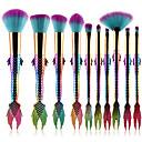 hesapli Makyaj ve Tırnak Bakımı-10'lu Paket Makyaj fırçaları Profesyonel Fırça Setleri Naylon fiber Çevre-dostu / Yumuşak Plastik
