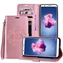 preiswerte Ohrringe-Hülle Für Huawei P smart / Enjoy 7S Kreditkartenfächer / mit Halterung / Flipbare Hülle Ganzkörper-Gehäuse Mandala Hart PU-Leder für P smart / Huawei Enjoy 7S