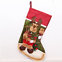 cheap Home Decoration-Stockings Holiday Cotton Fabric Square Novelty Christmas Decoration