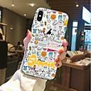رخيصةأون أغطية أيفون-غطاء من أجل Apple iPhone X / iPhone 8 Plus / iPhone 8 شفاف / نموذج غطاء خلفي جملة / كلمة ناعم TPU