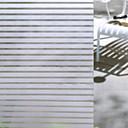 hesapli Pencere Malzmeleri-Pencere Filmi ve Çıkartma Dekorasyon mat / Çağdaş Çizgili PVC Pencere Çıkartması / Mat