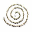 ieftine Coliere-Bărbați Lănțișor Colier lung, Două-Tonuri bizantin Simplu Clasic Oțel titan inox Auriu+Argintiu 60 cm Coliere Bijuterii 1 buc Pentru Stradă Ieșire