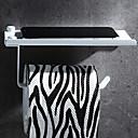 رخيصةأون أدوات الحمام-حاملة ورق التواليت تصميم جديد / كوول معاصر الفولاذ المقاوم للصدأ / الحديد 1PC حمالة ورق تواليت مثبت على الحائط