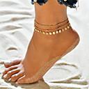 رخيصةأون خلخال-نسائي خلخال سوار الكاحل مجوهرات القدمين متعدد الطبقات اليوجا كرة كرة سيدات بوهيميان موضة خلخال مجوهرات ذهبي / فضي من أجل مناسب للعطلات بيكيني