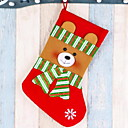 cheap Home Decoration-Stockings Cartoon Cotton Fabric Square Novelty Christmas Decoration