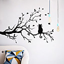 cheap Bathroom Gadgets-Decorative Wall Stickers - Animal Wall Stickers Animals / Floral / Botanical Living Room / Bedroom / Bathroom