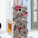 cheap Galaxy J Series Cases / Covers-Case For Samsung Galaxy J6 / J4 Transparent / Pattern Back Cover Flower Soft TPU for J7 (2017) / J6 / J5 (2017)