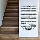 voordelige Nagelstempels-Decoratieve Muurstickers - 3D Muurstickers / Words & Quotes Wall Stickers Karakters / Vormen Studeerkamer / Kantoor / Kantoor