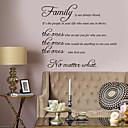 halpa Sisustustarrat-Koriste-seinätarrat - Words & Quotes Wall Stickers Luonteet Olohuone / Makuuhuone / Kylpyhuone