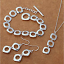 cheap Fruit & Vegetable Tools-Women's Drop Earrings Pendant Necklace Silver Bracelets Stylish Trace Creative Ladies Stylish Simple Elegant S925 Sterling Silver Earrings Jewelry Silver For Gift Date