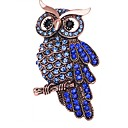 cheap Brooches-Women's Stylish Brooches - Rhinestone Owl Ladies, Stylish, Classic Brooch Jewelry Blue For Daily