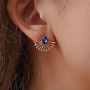 ieftine Cercei-Pentru femei Safir Sapphire sintetic Cercei Stud Picătură Creative femei Simplu Casual / sportiv Dulce Modă Elegant Diamante Artificiale cercei Bijuterii Auriu / Argintiu Pentru Stradă 1 Pair