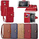 رخيصةأون Sony أغطية / كفرات-غطاء من أجل Sony Xperia XZ2 Compact / Xperia XZ1 Compact / Sony Xperia XZ1 محفظة / حامل البطاقات / مع حامل غطاء كامل للجسم لون سادة قاسي جلد PU