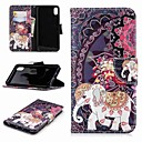 cheap iPhone Cases-Case For Apple iPhone XR / iPhone XS Max Wallet / Card Holder / with Stand Full Body Cases Elephant Hard PU Leather for iPhone XS / iPhone XR / iPhone XS Max