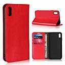 preiswerte iPhone Hüllen-Hülle Für Apple iPhone XR / iPhone XS Max Kreditkartenfächer / mit Halterung Ganzkörper-Gehäuse Solide Hart Echtleder für iPhone XS / iPhone XR / iPhone XS Max