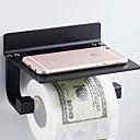 billige Badeværelsesartikler-Toiletrulleholder Nyt Design / Sej Moderne Aluminium 1pc Toiletpapirholdere Vægmonteret