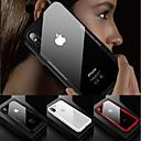 رخيصةأون أغطية أيفون-غطاء من أجل Apple iPhone X / iPhone 8 Plus / iPhone 8 ضد الصدمات / شفاف غطاء خلفي لون سادة قاسي زجاج مقوى